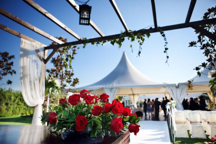 Ein Partyzelt Mieten Partyzelt Hochzeit Bereich Ballon Banner
