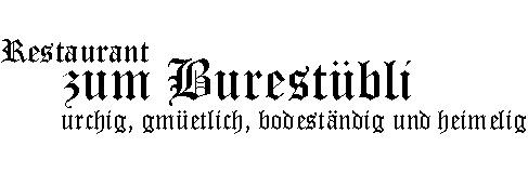Restaurant zum Burestübli